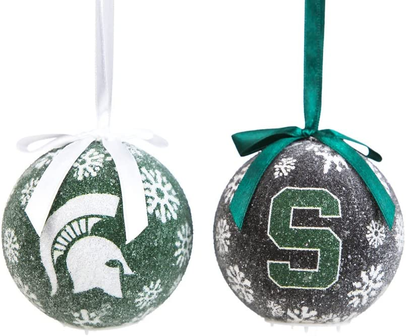 Team Sports America Michigan State Spartans LED Box Set Ornaments