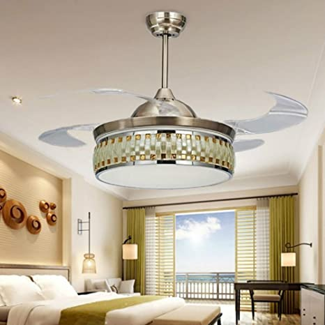 Rs Lighting 42 Inch Three Color Changing Ceiling Fan With Chandelier