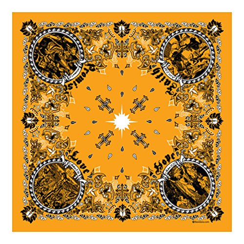 Gold - Jesus Christ - Christian Bandana - Single Piece -
