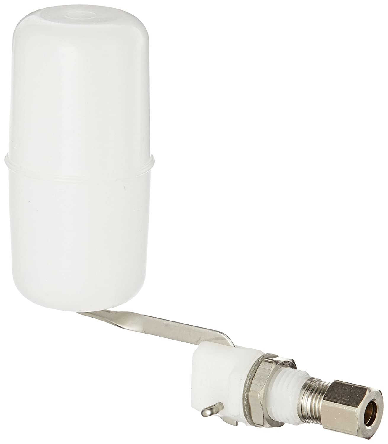 Robert Manufacturing RM292 Series Bobby Series Celcon Miniature Valve and Float Assembly, 1/4' Compression Nut, 125 psi Pressure, 1/16' Orifice 1/4 Compression Nut 1/16 Orifice Control Devices
