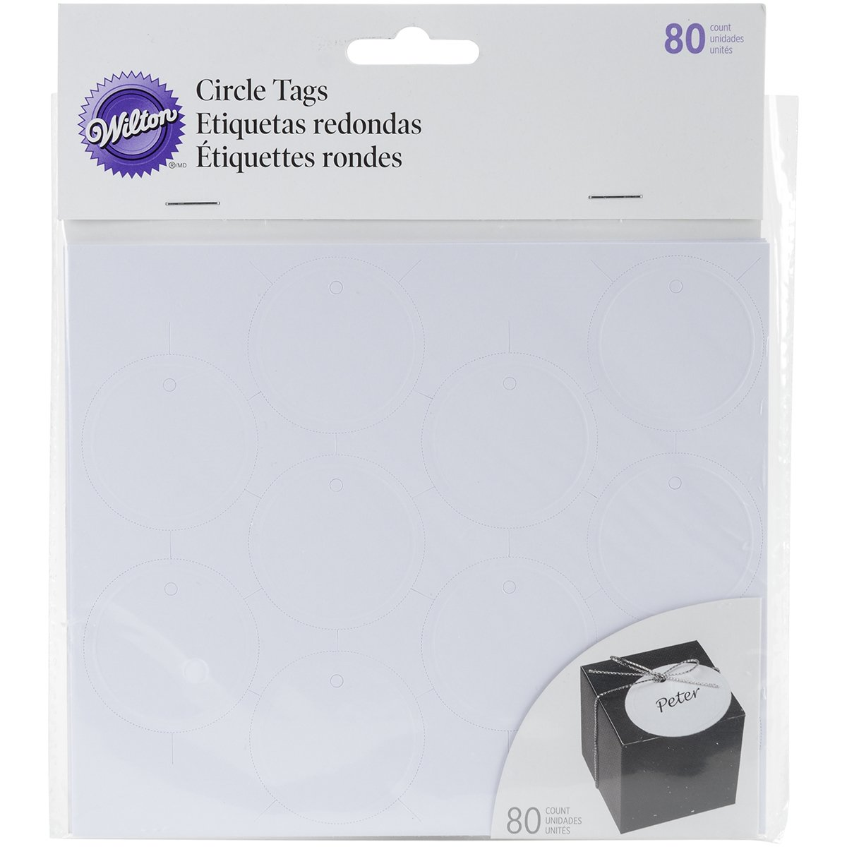 Printable Tags 80/Pkg-White Circle Wilton 1008-625
