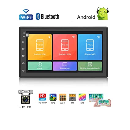Car Stereo Double Din Car Radio Car Audio Android 6 0 Car Multimedia Player  7 Inch HD Touchscreen GPS Navigation Bluetooth Wifi Dual USB,FM,Support