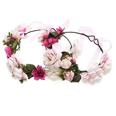Chinatera Parent-child Mom Baby Girls Flower Hairband Headband Seaside Headwear Photo