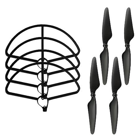 Amazon Com 4pcs 2a2b Propeller Blades 4pcs Protection Frames For