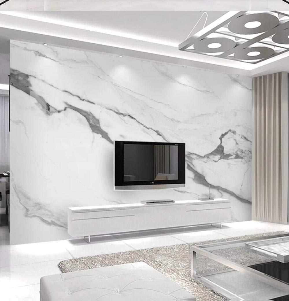 Papel Pintado 3D Luz De M/ármol Blanco De Lujo Simple Fotomurale 3D Tv Tel/ón De Fondo Pared Decorativos Murales Moderna