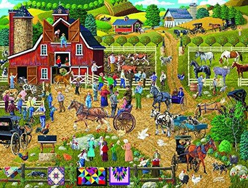 SunsOut Country Farm 500 Piece Jigsaw -