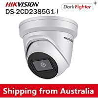 HIKVISION UltraHD 4K (8MP) Outdoor Security POE IP Camera DS-2CD2385G1-I,Low Illumination 2.8mm Lens Dome Camera, Smart IR, H.265+, SD Card Slot, WDR DNR, IP67