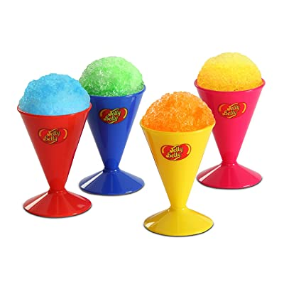 Jelly Belly JB15627 Reusable Snow Cone Cups 4-Pack, 6-Ounces, Multicolored (Discontinued by Manufacturer): Kitchen & Dining