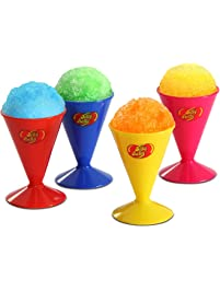 Jelly Belly JB15627 Reusable Snow Cone Cups 4-Pack, 6-Ounces, Multicolored