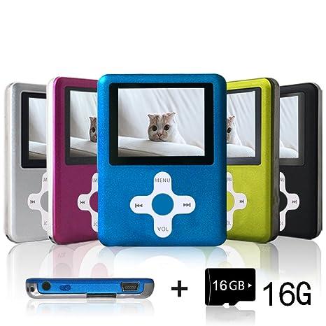 Amazon.com: Lecmal Reproductor MP3 portátil MP4 con tarjeta ...