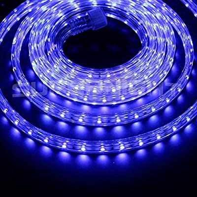 BZONE 110V 3528SMD Waterproof LED Strip Light, Plug and Play