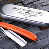 Personalized Straight Razor Blade with Tin Box - Free Custom Engraving