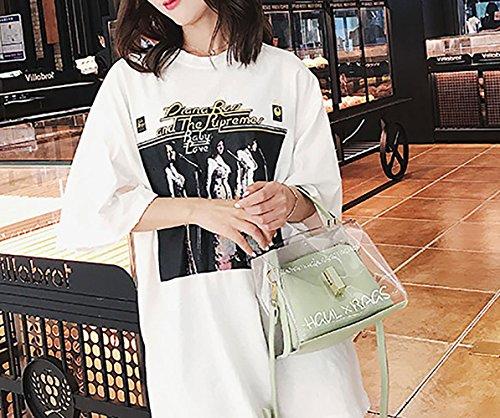 Mujer bolsos hombro bandolera Shoppers clutches y Bolsos Carteras de mano Rosa de y RxqwRrTEg