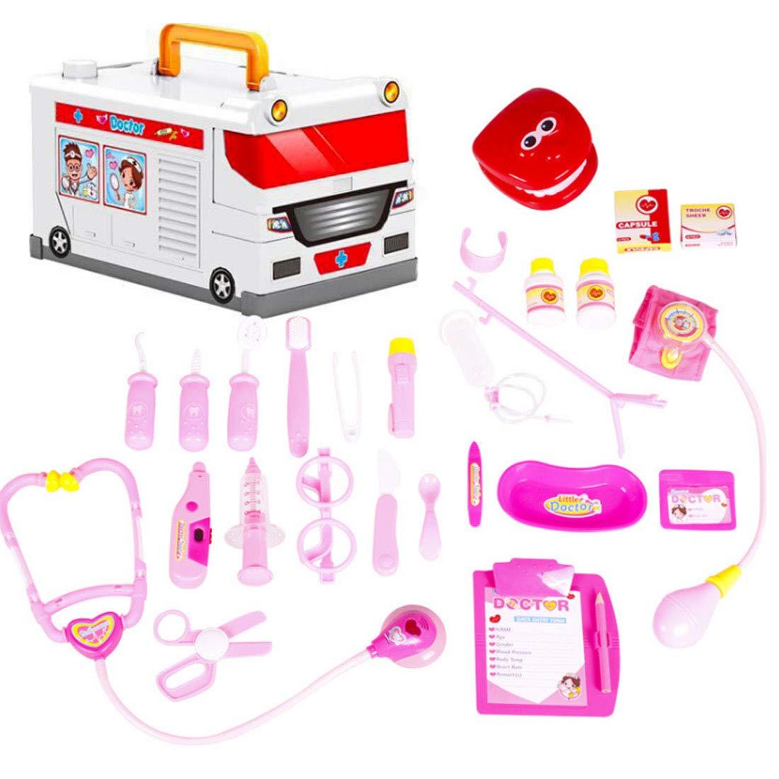 Giplar Spielzeug Simulation Medizin Kasten Doktor Set Doktorkoffer Zubehör mit Arztköfferchen Kinder