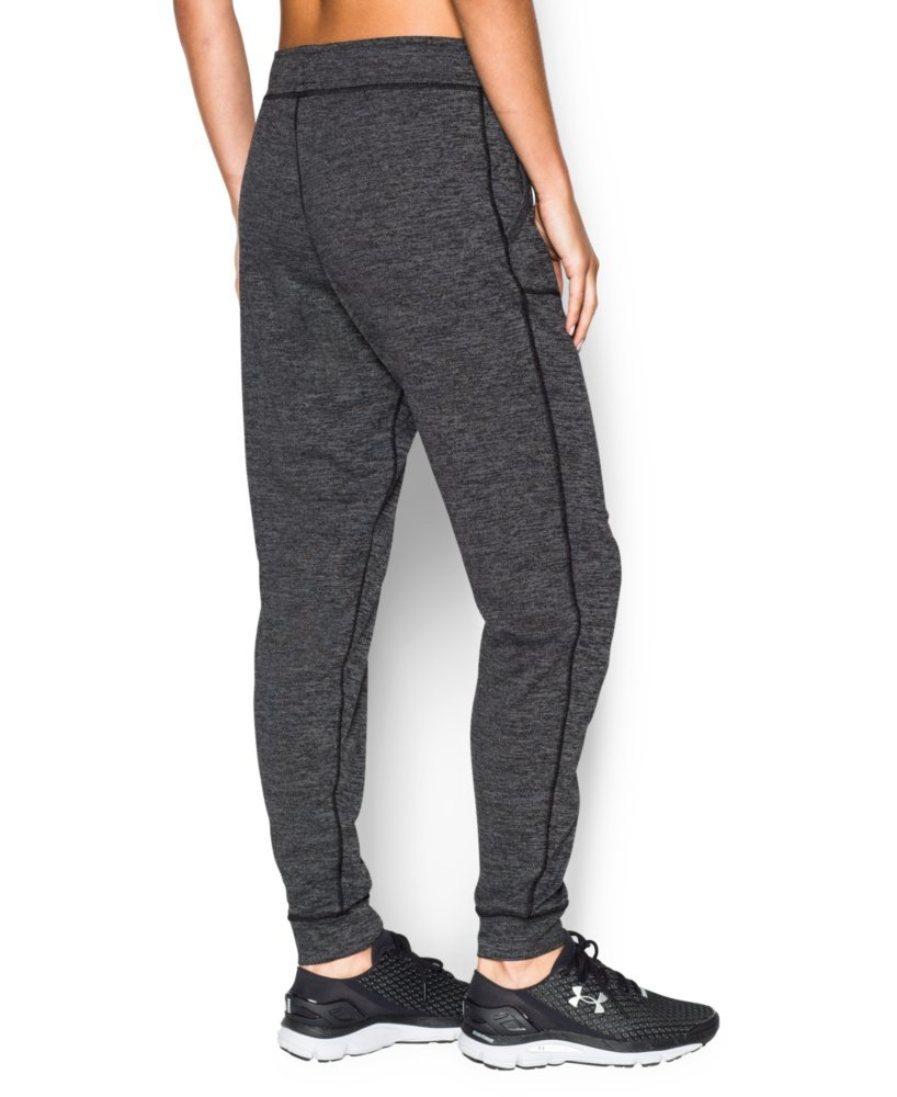 Under Armour Women's Twisted Tech Pant, Black /Metallic Silver, X-Large by Under Armour (Image #2)