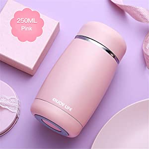 KTSWP Water Bottle Mini 250ml Thermos Coffee Bottle Stainless Steel Vacuum Flasks Thermal Insulation Cup Flasks Thermos Cup Drinkware