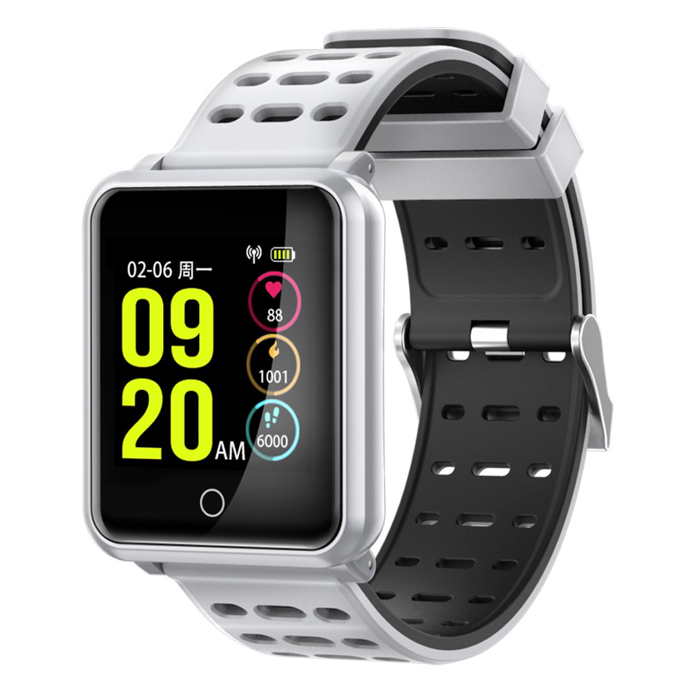 Amazon.com: Smart Watch Bluetooth Wireless Charging 1.3 inch ...