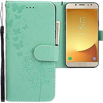 CLM-Tech Funda Samsung Galaxy J5 2017, Carcasa Cuero sintético con Función de Soporte, Ranuras para Tarjetas, para Samsung Galaxy J5 (2017) DUOS Flip ...