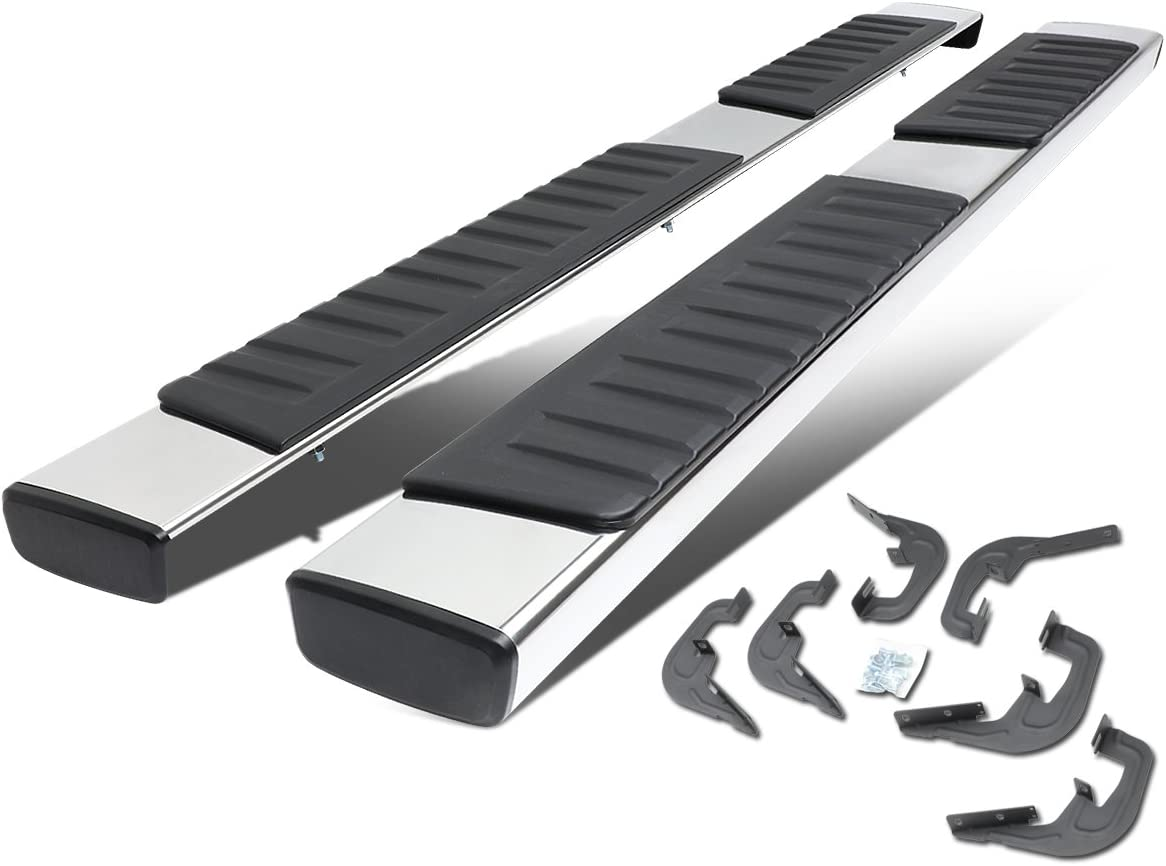 """6"""" Stainless Steel OE Style Side Step Nerf Bar Running Board Replacement for Silverado GMC Sierra Extended Cab 07-18"""
