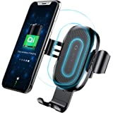 Qi Wireless Car Charger Mount, Baseus Gravity Car Mount Air Vent Phone Holder, 10W Charge for Samsung Galaxy S8 S7/S7 Edge, Note 8 5, Standard Charge for iPhone X, 8/8 Plus and Qi Enabled Devices