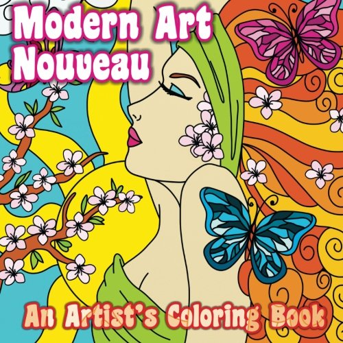 Artists Colouring Book Art Nouveau : Modern art nouveau: an artists coloring book: volume 37 sacred