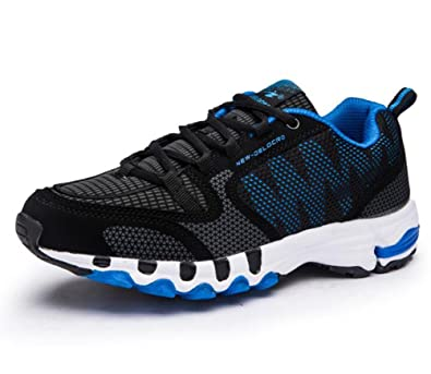 405e83c927520 Scennek Mens Mesh Trainers Lace up Lightweight Sports Running Shoes ...
