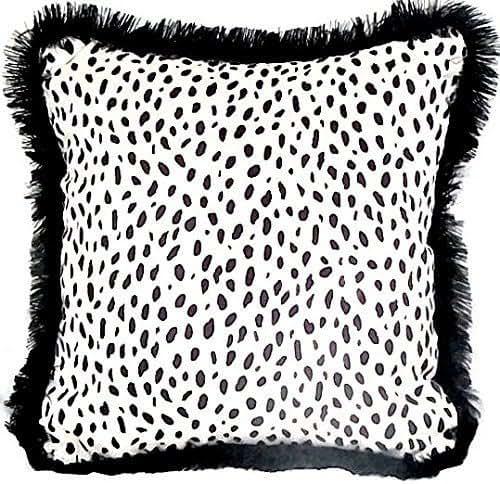 amazon com  velvet dalmatian pillow cover 18x18  u2013 black
