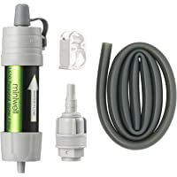 miniwell Gravity Water Filter Straw Ultralight Versatile Hiker Water Filter Optional Accessories. TUV Proven Emergency…