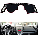 Oneuda Flannel Dashmat Dashboard Cover Dash Pad Car Mat Carpet Sun Shade for/ Kia Soul 2010 2011 2012 2013 Anti-Slip Dash Board Cover Auto Accessories