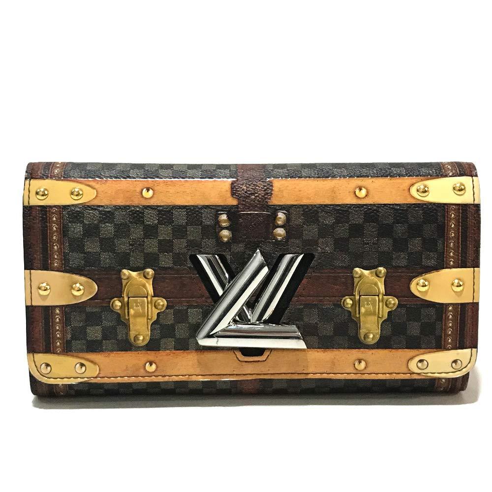 (ルイヴィトン)LOUIS VUITTON M63778 トランスフォームド ポルトフォイユ ツイスト ダミエ トロンプルイユ 長財布 二つ折り財布(小銭入れあり) ダミエキャンバス メンズ 中古 B07RXYVS72