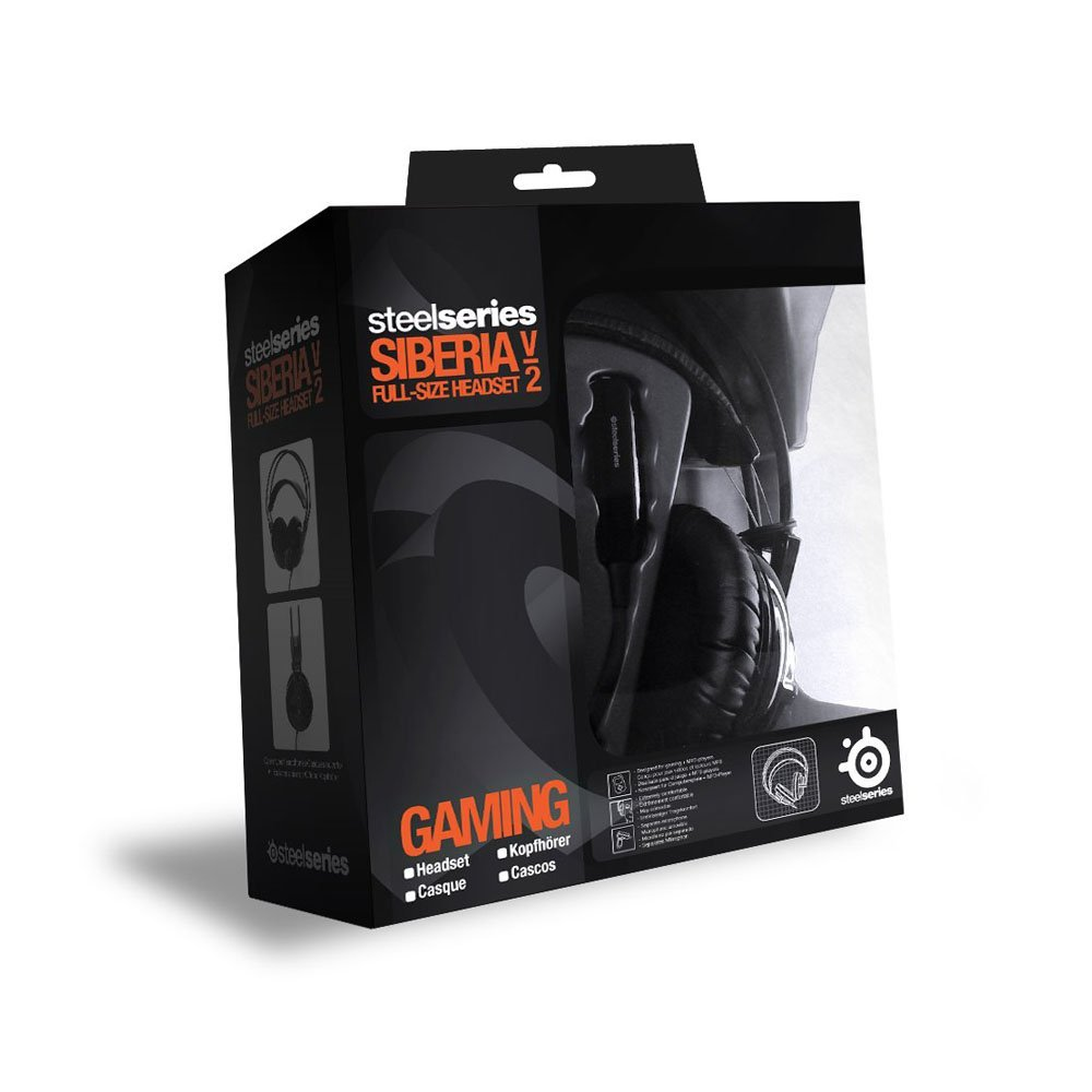 Amazon.com: SteelSeries Siberia v2 Full-Size USB Gaming Headset with Virtual Surround 7.1 Sound (Black) (Certified Refurbished): Video Games