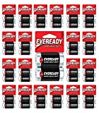 192x Eveready Size C Batteries Super Heavy Duty Carbon Zinc Fresh Carded 96 x C2