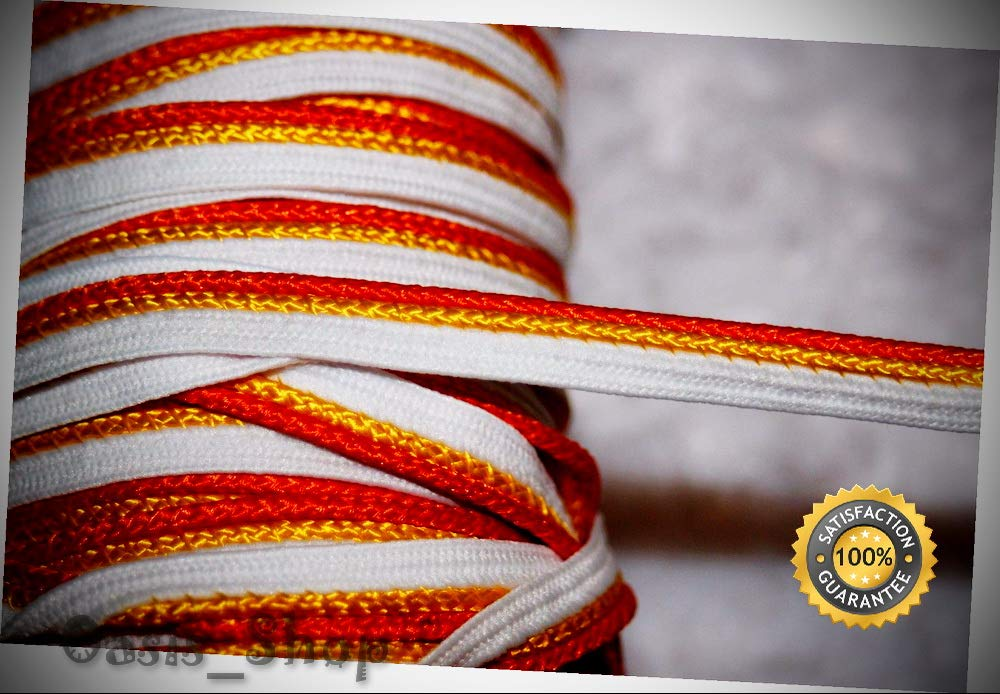 8 Yards White Orange Yellow Apron Lip Cord Piping Upholstery Trim 1/8'' 3/8'' Wide - Ribbon Lyrical Dance Costumes, Sashes, Headbands by Oasis_Shop