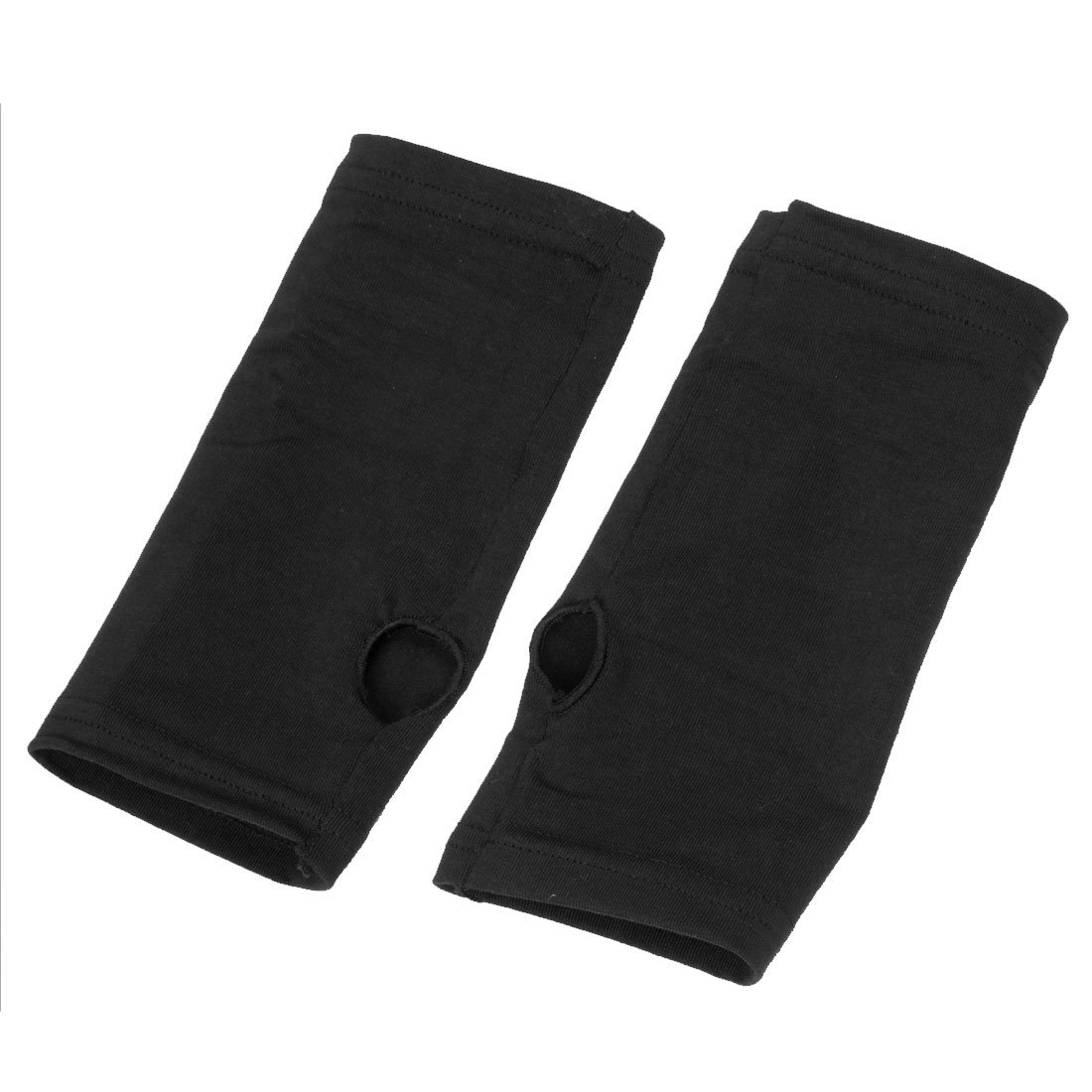 Fingerless gloves cotton - Amazon Com Ladies Black Fashion Fingerless Ribbing Short Gloves Health Personal Care