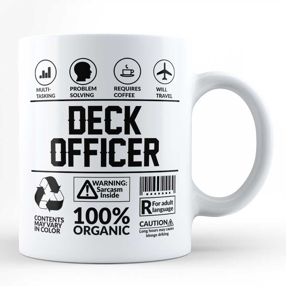 Amazon com: Funny Sarcasm Mug/Gift for Deck Officer Profession Job