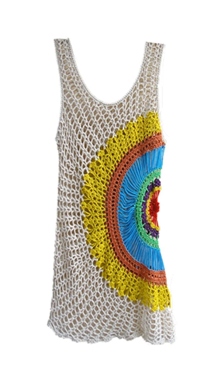 Tinacrochetstudio Exclusive Crochet Floral Dress for Women