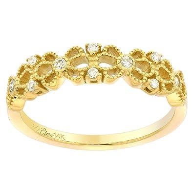 14k gold flower engagement ring for women diamond accent 316 inch 14k yellow gold flower engagement ring for women diamond accent 316 inch wide mightylinksfo