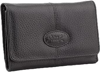 SevenK Leather Flap Wallets Black For Women , 2724696077402