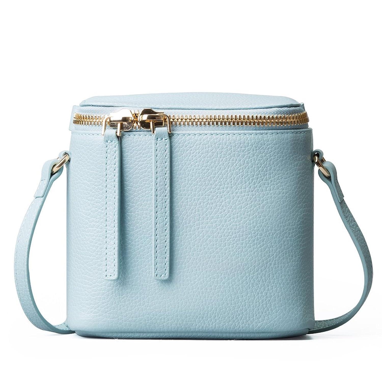 FANICE Women Cow Leather Simple Style Bucket Bag,FB639