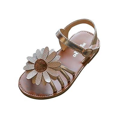 789decba1b229 EU20- 34 Bebe Fille Sandales Fleur ETE Chaussures de Princess Ceremonie  (Argente