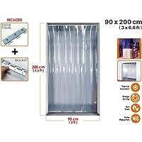 Acepunch Cortina de tira de plástico PVC 90cm