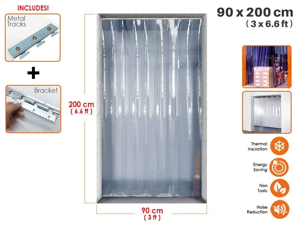 Portes dentrepot et Chambres propres AP1173 Rouleau pour Marcher dans le Congelateur Acepunch Bete de Plastique PVC 18cm x 200cm 0.6 x 6.6 ft.