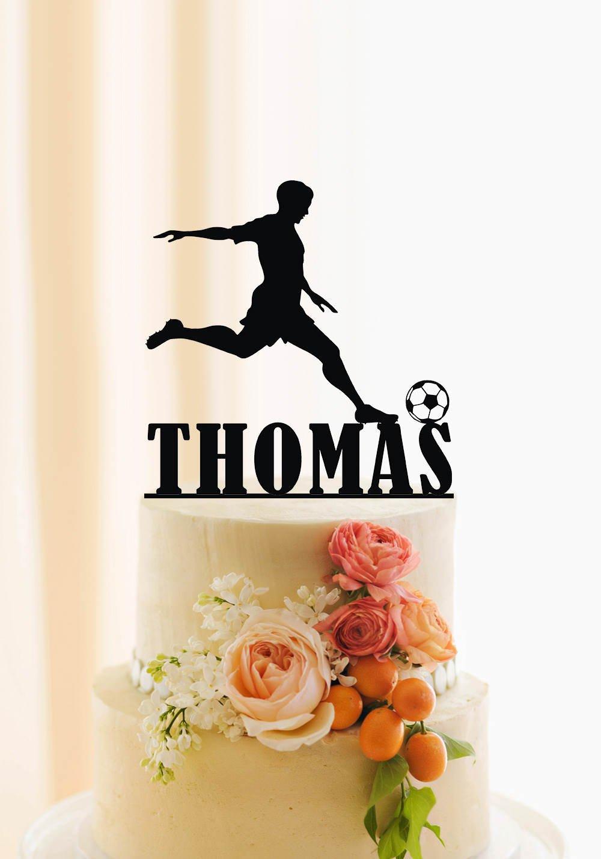 Amazon.com: De Torta De Fútbol Fútbol tarta de cumpleaños ...