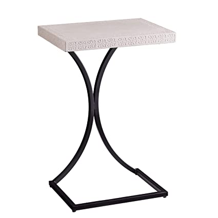 Incredible Furniture Hotspot C Shaped End Table Cement Gray Uwap Interior Chair Design Uwaporg
