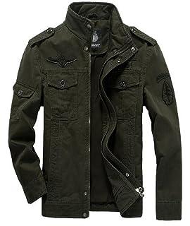 NBNNB Männer 100% Baumwolle Air Force Casual Kragen Mantel Bequeme Jacke  Heroic Classic Windbreaker Herren fa42182f57