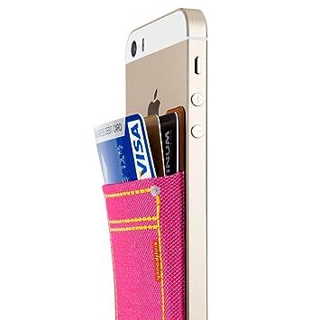 Sinjimoru Denim Stick-On Wallet que funciona como estuche de ...