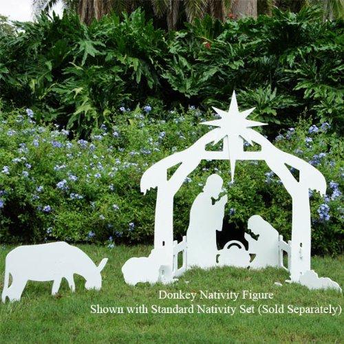 Teak Isle Christmas Outdoor Nativity Donkey Figure by Teak Isle