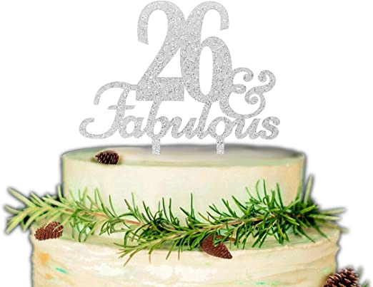 Amazon Com 26 Fabulous Cake Topper Premium Quality Acrylic For