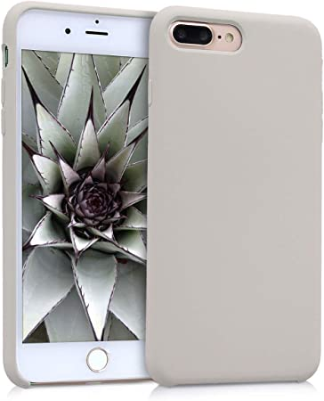 Kwmobile Hülle Kompatibel Mit Apple Iphone 7 Plus 8 Plus Handyhülle Gummiert Handy Case In Beige Elektronik