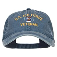 e4Hats.com US Air Force Veteran Military Embroidered Washed Cap